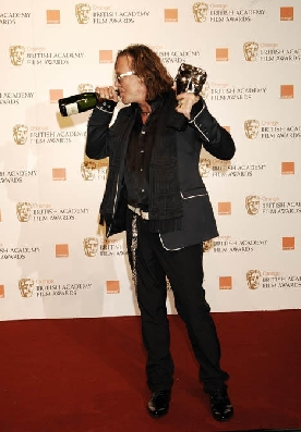 Mickey Rourke at the BAFTAs